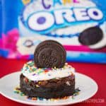 Birthday Cake Oreo Brownies