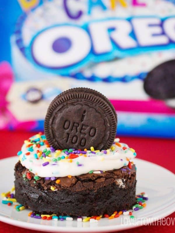 Birthday Cake Oreo Brownies – Happy Birthday Oreo!
