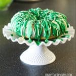 St. Patrick's Day Green And White Bundt Cake