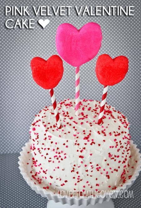 Pink Velvet Cake for Valentines Day