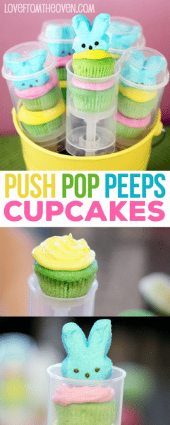 Push Pop Peeps Cupcakes For Easter