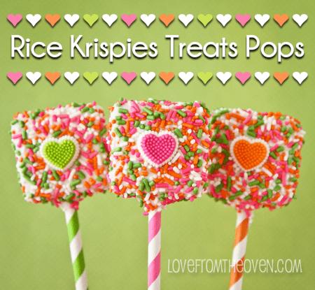 Valentines Recipes Rice Krispies Treat Pops