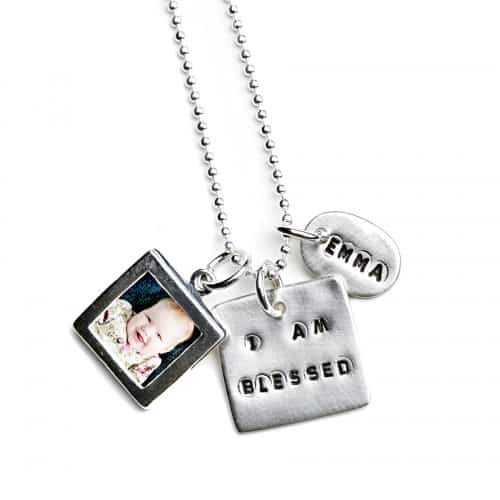 Sentimental Silver I AM BLESSED Photo Charm Necklace High Res