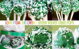 St Patricks Day Green Velvet Cake Pops