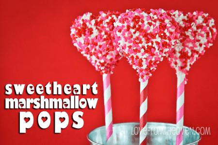 Valentines Recipes Marshmallow Pops