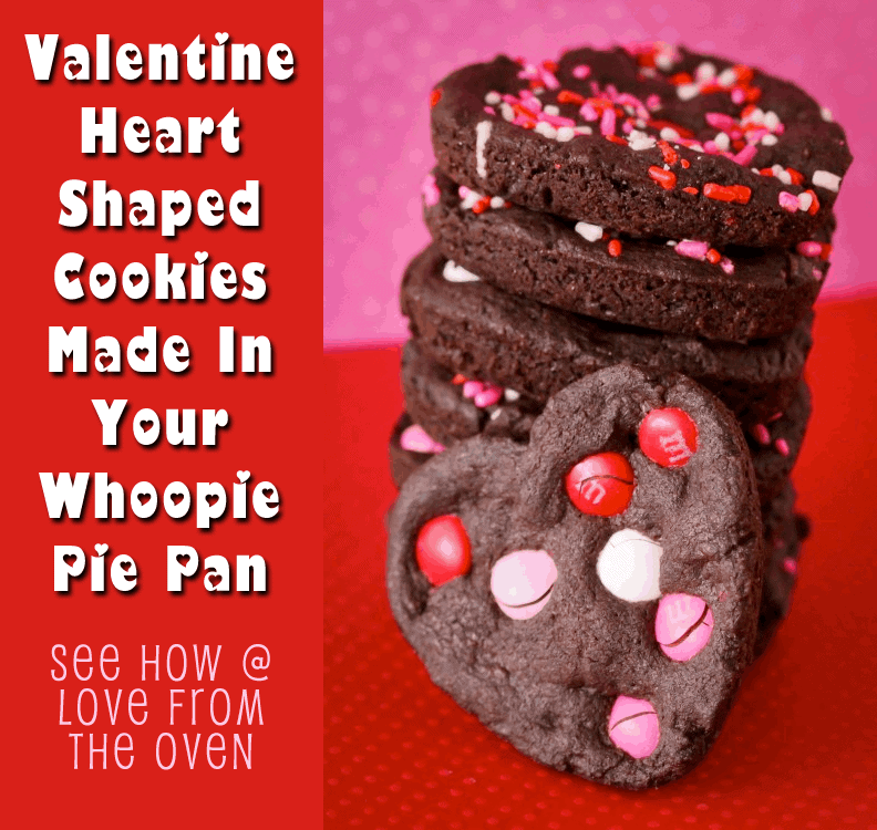 Valentine Heart Shaped Cookies by Love From The Oven