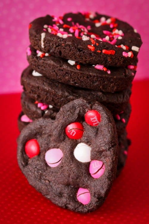 Valentine S Day Chocolate Heart Cookies Made In A Whoopie Pie Pan
