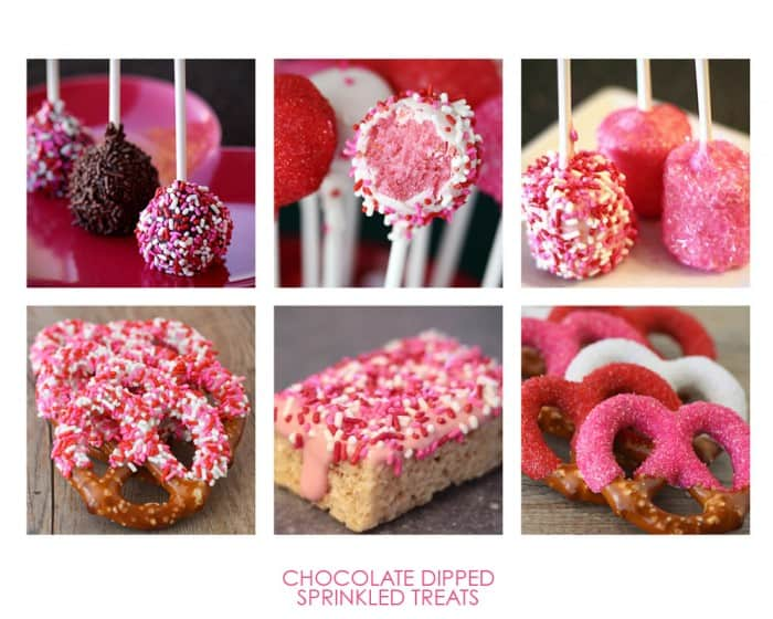 Valentines Sprinkle Treats