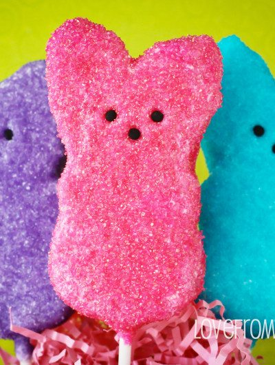 Chocolate Covered PEEPS Easter Crispy Treats