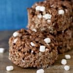 Triple Chocolate Rice Krispies Treats With Jet Puffed Mallow Bits