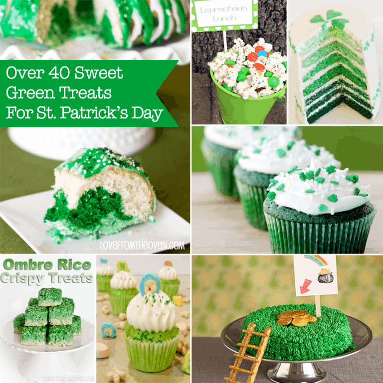 St. Patrick's Day Green Recipes at Love From The Oven