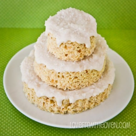 Eggnog Frosted Rice Krispies Treats