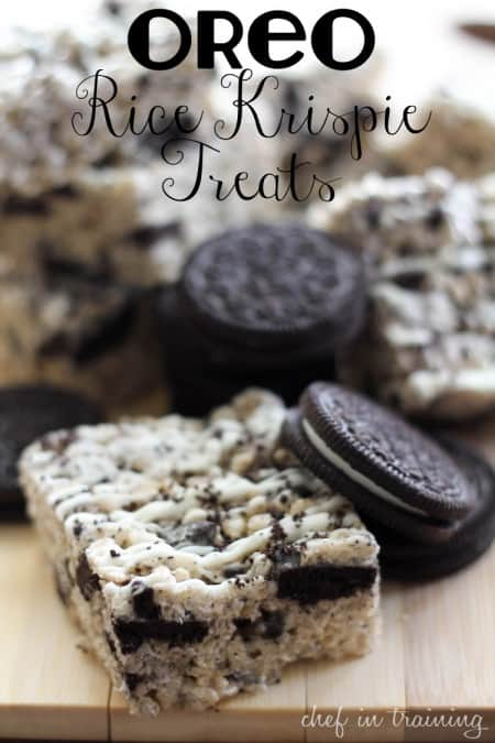 Oreo Rice Krispies Treats