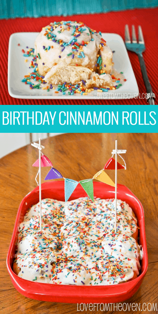 Birthday Cake Cinnamon Rolls Love From The Oven