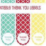 Free Thank You Label Printables