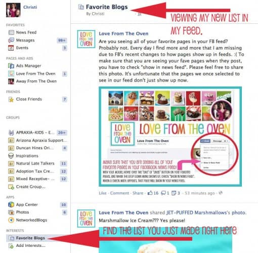 how to see your favorite pages in your facebook feed love from the