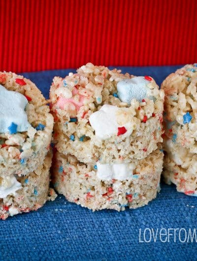 Red, White & Blue Rice Krispies Treats