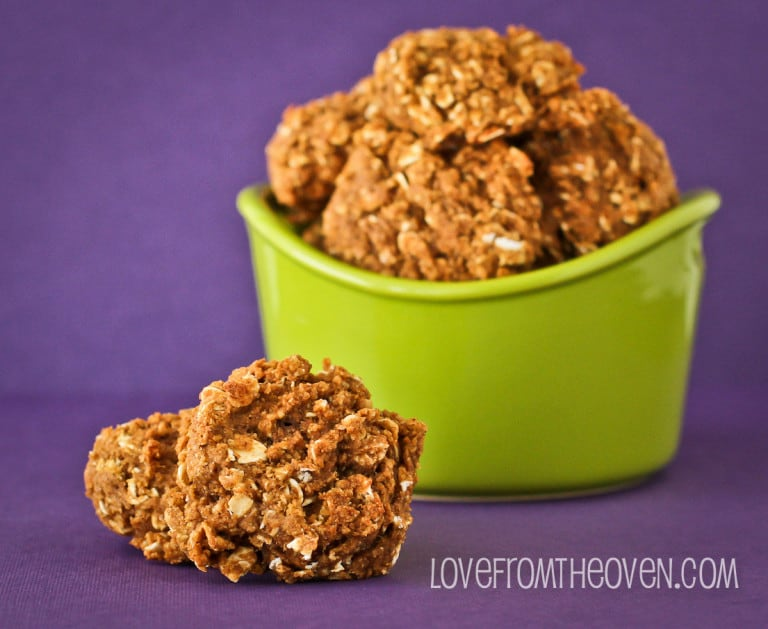 Pumpkin Oatmeal Spice Cookies - Love From The Oven