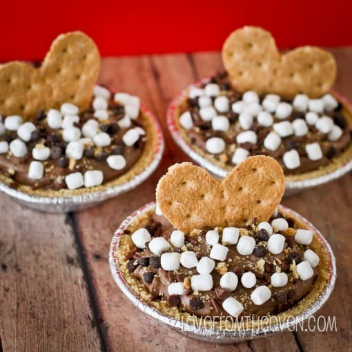 Easy No Bake S'mores Cheesecake Mousse Pies - Love From The Oven