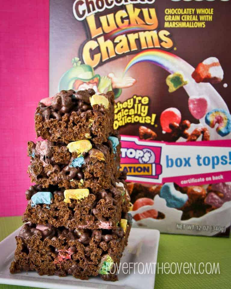 Lucky Charms™ Cereal Bars. Colorful cereal and mini marshmallows make a chewy snack bar even more fun! MORE + LESS - Servings: 64 servings (1 serving = 1 - 2x3-inch bar) Ingredients. NAME WEIGHT MEASURE; Lucky Charms™ Bulkpak Cereal () 2 lb 3 oz.