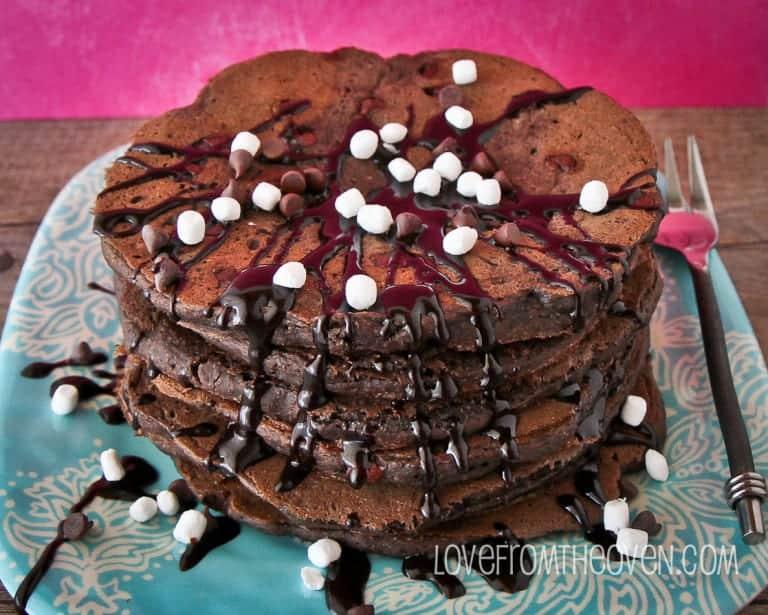 Chocolate Chocolate Chip Pancakes