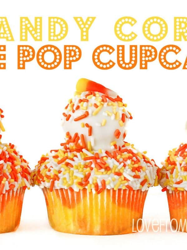 Candy Corn Cake Pop Topped Cupcakes And<BR> A McCormick Spice Spooky Squad Giveaway