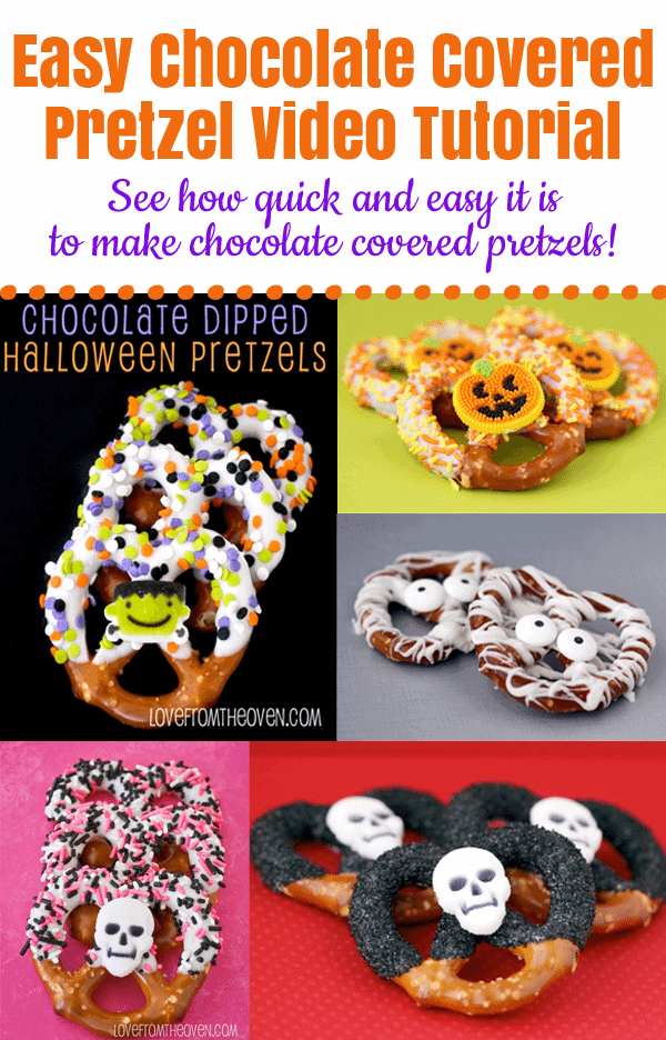 Chocolate Covered Pretzel Video Tutorial by Love From The Oven