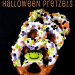 Chocolate Covered Halloween Pretzels