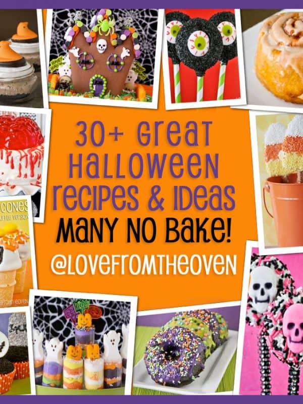 30+ Halloween Recipes & Ideas – Many No Bake!