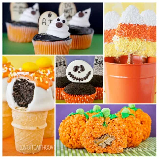 Easy Last Minute Halloween Treat Ideas.  Many are no bake!