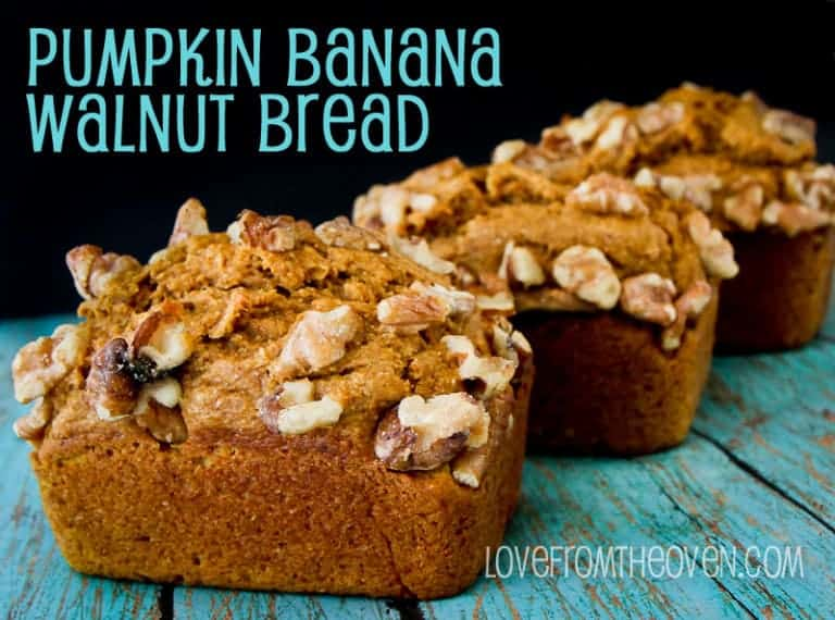 Pumpkin Banana Walnut Bread by Love From The Oven