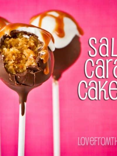 Salted Caramel Cake Pops