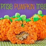 Rice Krispies Surprise Pumpkin Treats<BR>And A Rice Krispies Giveaway