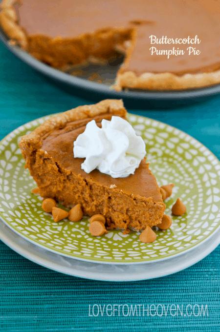 Butterscotch Pumpkin Pie