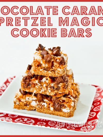 Seven Layer Magic Cookie Bar Week<BR>Chocolate Caramel Pretzel Seven Layer Bars