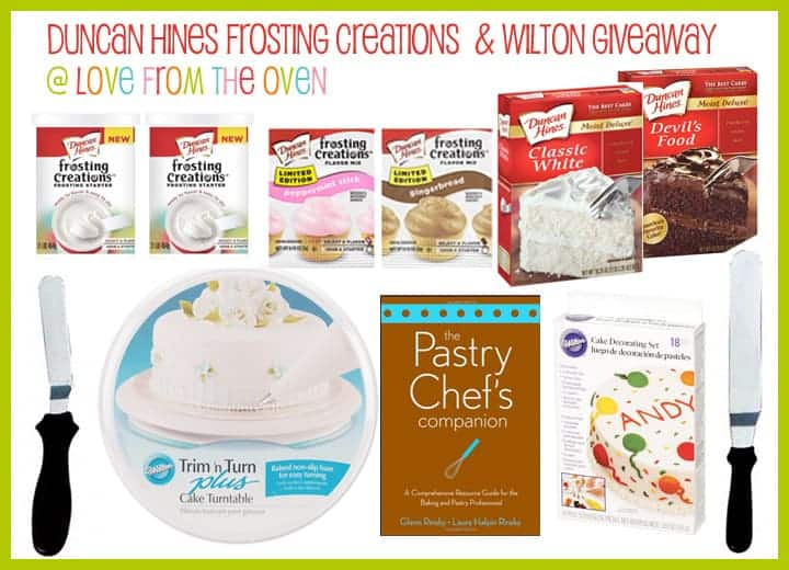 Duncan Hines & Wilton Giveaway at Love From The Oven