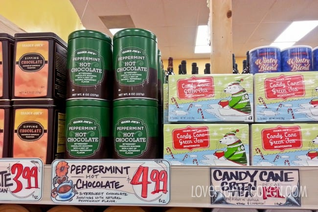 Trader Joe's Candy Cane Tea and Winter Coffee