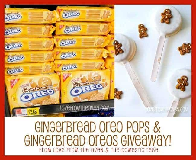 Gingerbread Oreos Giveaway by Love From The Oven & The Domestic Rebel
