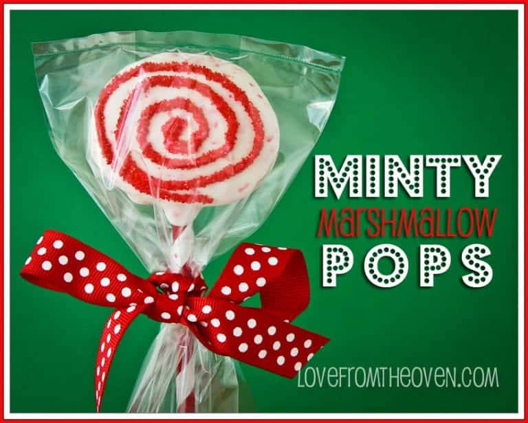 Minty Marshmallow Pops by Love From The Oven