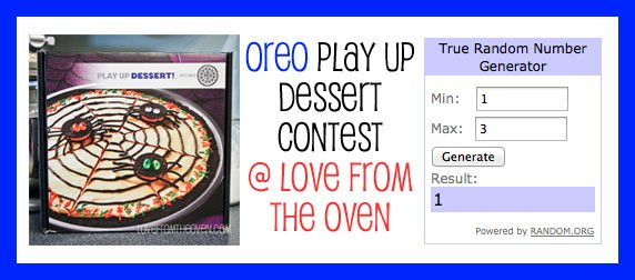 Oreo Play Up Dessert Winner