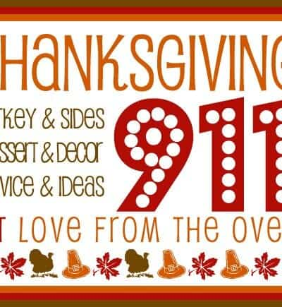 Thanksgiving 911 – A Collection of Thanksgiving<BR>Tips, Tricks, Resources, Recipes & Ideas