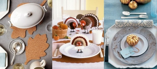 Martha Stewart has some gorgeous Thanksgiving table decorating ideas and inspiration. Save & Thanksgiving 911 - A Collection of ThanksgivingTips Tricks ...