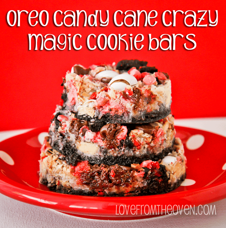 Oreo Candy Cane Crazy Magic Cookie Bars