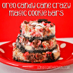 Seven Layer Magic Cookie Bar Week<BR>Oreo Candy Cane Crazy Magic Cookie Bars