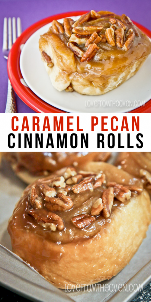 Caramel Pecan CInnamon Rolls.  These are ridiculously good!