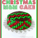 Simple & Sweet Easy Christmas Chevron Cake