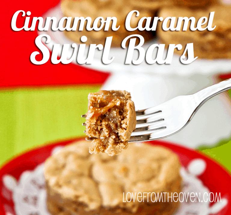Cinnamon Caramel Swirl Bars @LoveFromTheOven