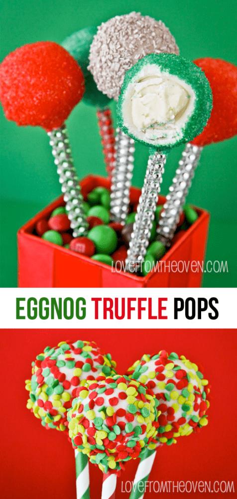 Eggnog Truffle Pops