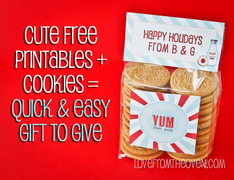 Free Christmas Printable Cookie Idea at Love From The Oven