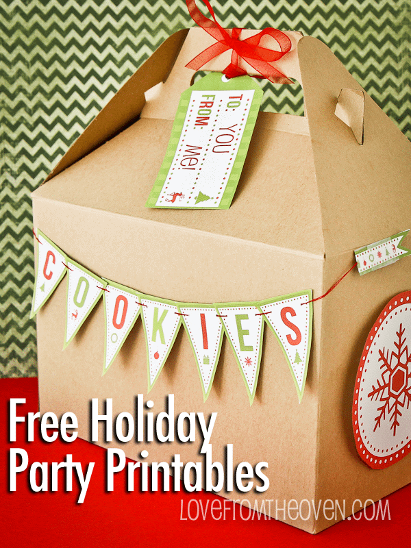 Free Holiday Party & Baking Printables From Catch My Party and HP Ink